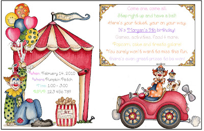 Aussie Pumpkin Patch: Carnival Party Invitations