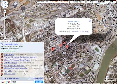 GoogleBar zur Vermarktung von Google Maps