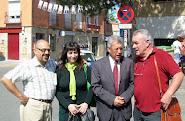 Con Manuel Fuentes, Cayo Lara, y Sonsoles