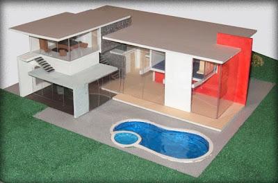 Proyectos desarrollados maquetas maquetas for Casa moderna maqueta