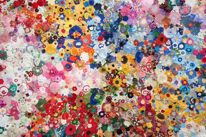 Handarbeiten ZehntausendblütenTeppich