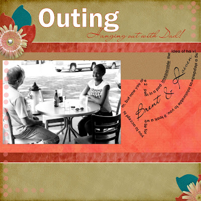 Scrapbook Layout with text in a shape by Maggie Lamarre for Everyday Digital Scrapbooking
