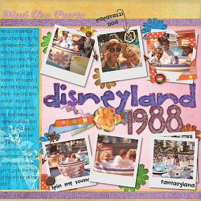 Disneyland Scrapbook Layout by Julie Ann Shahin