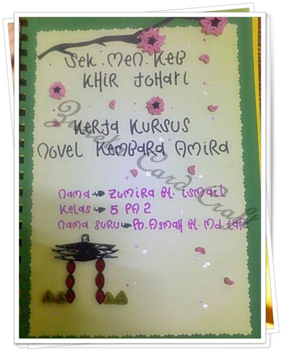 Zuneta Card Craft Hiasan Kulit Folio Zumira