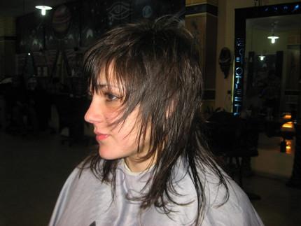 Corte de cabello desmechado