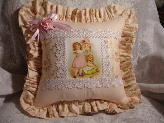 Cuscino vittoriano rosa