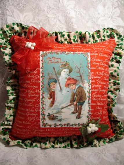 Cuscino Natale vittoriano