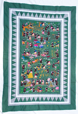 Of Peacocks & Elephants: Hmong Story Quilt : hmong story quilt - Adamdwight.com