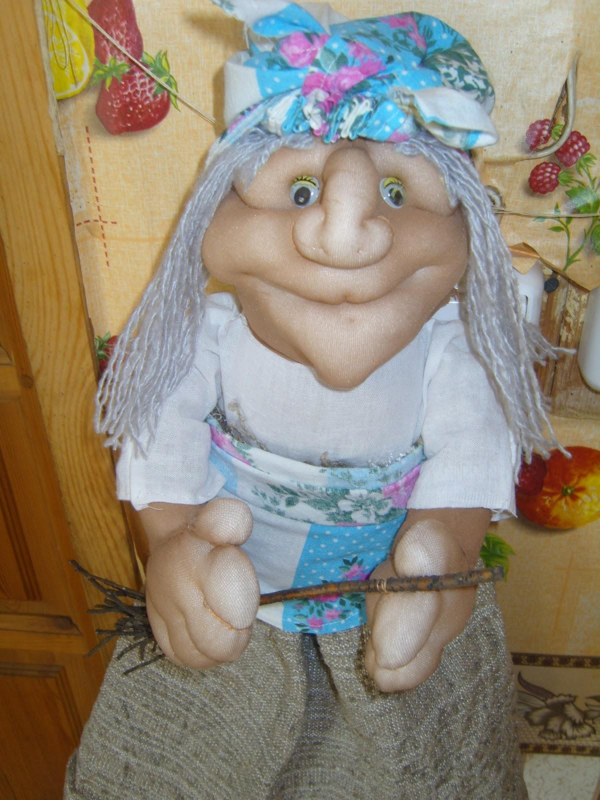 Баба Яга своими руками. Мастер-класс Куклы по русским мотивам