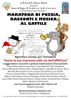 8 MAGGIO, ROMA:MARATONA GATTOSA DI POESIA AL GATTILE AZALEA
