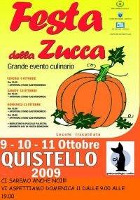 DOMENICA 11 OTTOBRE, BANCHETTO DI GATTORANDAGIO ALLA FESTA DELLA ZUCCA a QUISTELLO (MN)