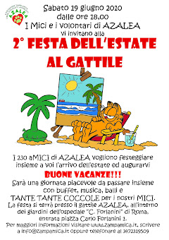 19 GIUGNO, ROMA: IL GATTILE AZALEA IN FESTA... D'ESTATE