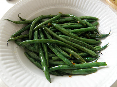 Roasted Green Beans with Orange-Ginger Butter