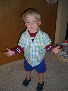 Noah posing for tacky day.