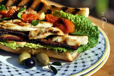 chicken and brie sandwich with pan roasted cherry tomatoes recipes ...