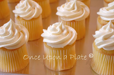 Once Upon A Plate Lemon Cream Mini Cupcakes With Creamy