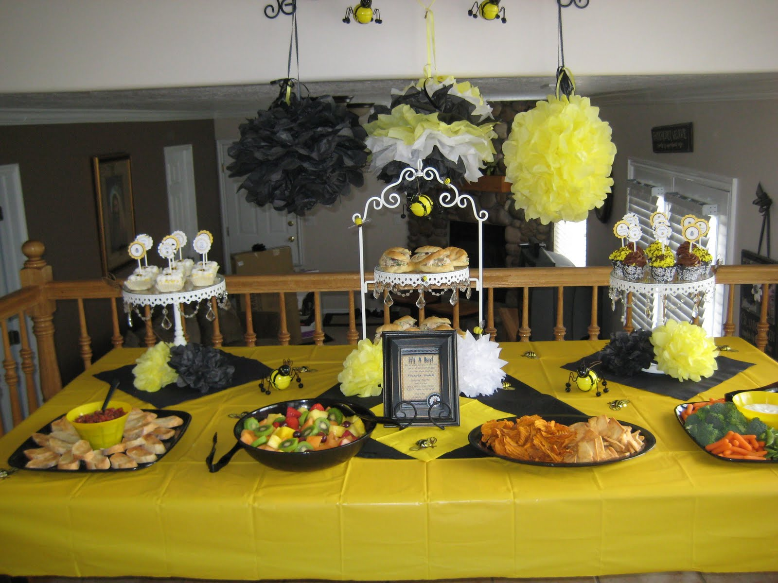 Blissful Bumble Bee Baby Shower Decorating Ideas