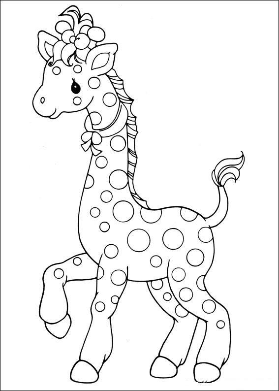 Preciosos Momentos Jirafa ~ Dibujos para Colorear Infantil