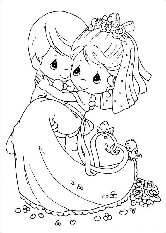Preciosos Momentos Boda ~ Dibujos para Colorear Infantil