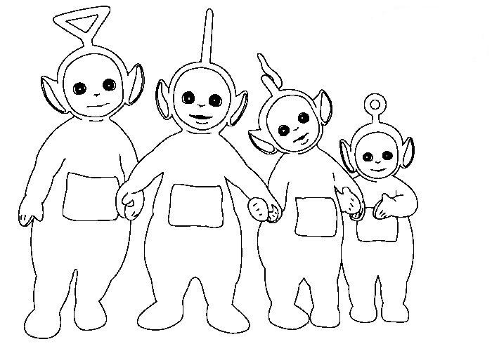 free coloring pages of teletubbies para colorear