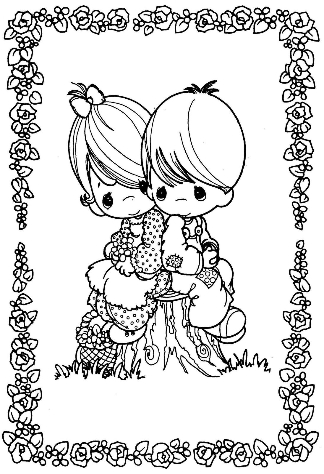 dibujos de preciosos momentos dibujos del dia del amor para colorear ...
