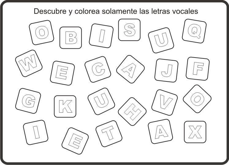 Examen de vocales - Imagui
