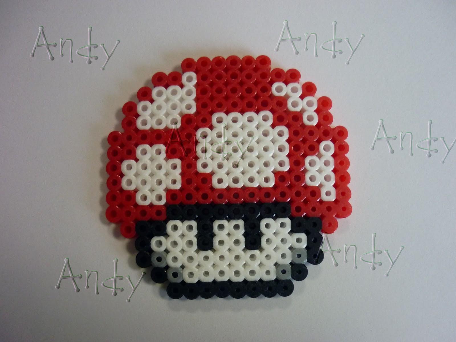 Perler Beads Hongo Mario Bros