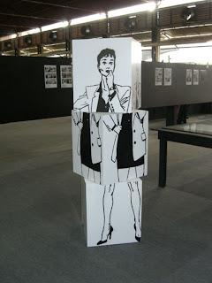 Entrada da exposição sobre a criminóloga Júlia, de Berardi