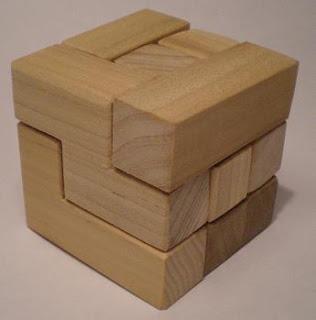 3-D Wooden Puzzle Cube