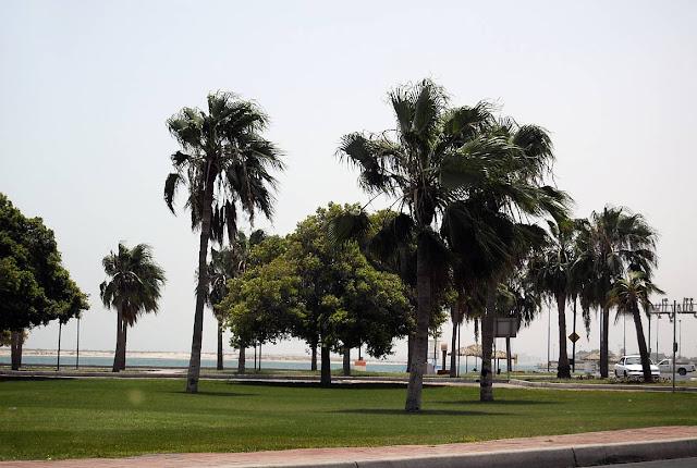 Driving away from Nakheel Beach