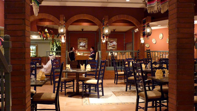 Inside the TexMex Restaurant of the Intercontinental, Al-Jubail
