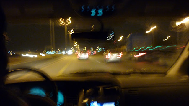 @ 160 kmph on Dammam-Khobar Highway. It is 12.15 AM and being a Thursday night, there is still a lot of traffic
