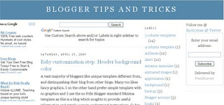 Blogger Tips Tricks