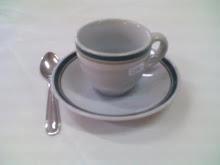 Juego de Café Económico - Modelo UD (filete Verde)
