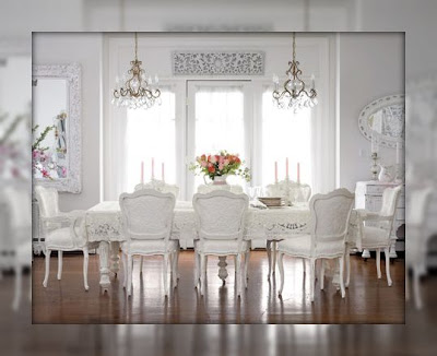 Luxury-design-white-painted-dining-room-with-rectangular-white-dining-table-and-white-painted-and-upholstered-dining-chairs