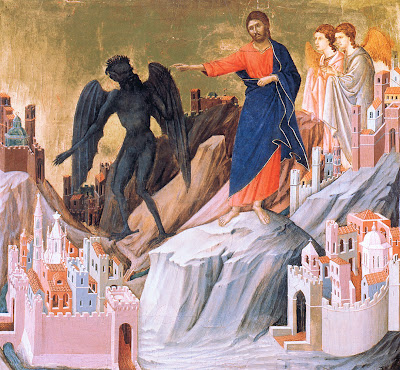 The Temptation of Christ by Duccio