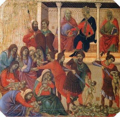 The Massacre of the Innocents by Duccio