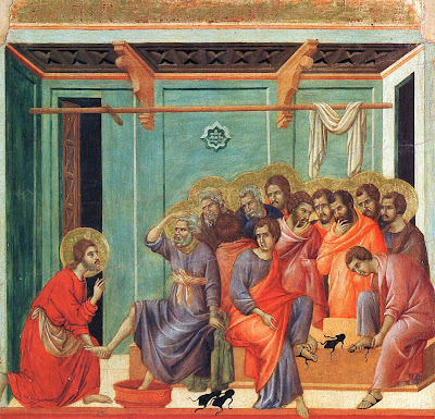 Washing the Feet by Duccio