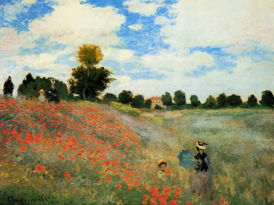 Claude Monet. Poppy Field at Argenteuil