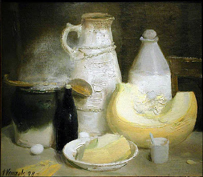 Imants Vecozols,Still Life painting, gray color paintings