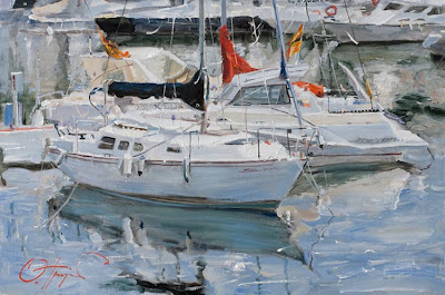 Boat Paintings by Russian Artist Oleg Trofimoff