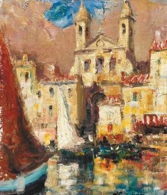 Oil Painting by Italian Artist Merio Ameglio
