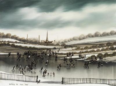 Brian Shields (Braaq) British Artist. Winter Painting
