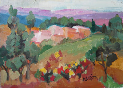 Landscape Painting by French Artist Marie Astoin
