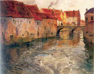 Landscape Painting by Frits Thaulow Norwegian Painter