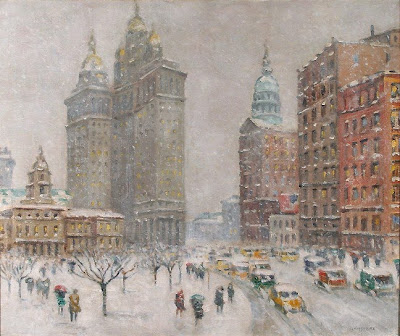 Winter Painting by  American Impressionist Guy Wiggins