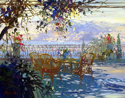 Painting by French artist Laurent Parcelier