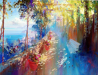 Paintings by French artist Laurent Parcelier