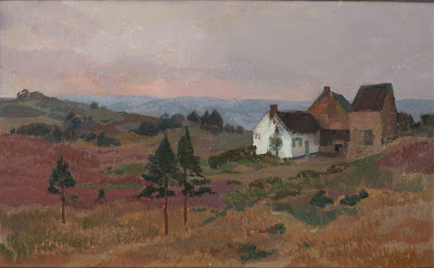 Landscape Painting by Belgian artist August Donnay