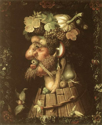 Painting by Giuseppe Arcimboldo Autumn